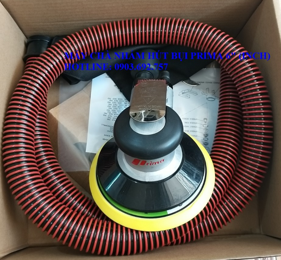Máy chà nhám hút bụi dùng hơi PRIMA 6inch OSN-60HE