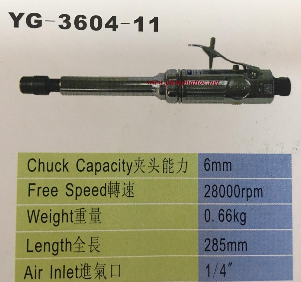 Máy mài khuôn hơi YUNICA YG-3604-11